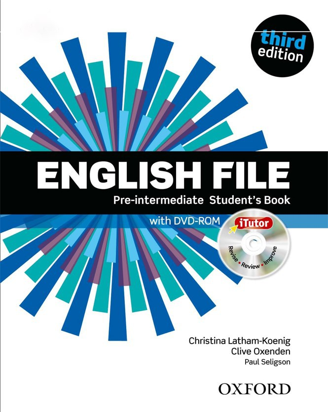 English File Pre-intermediate Third Edition Students Book with DVD-ROM + Workbook with key and CD-ROM